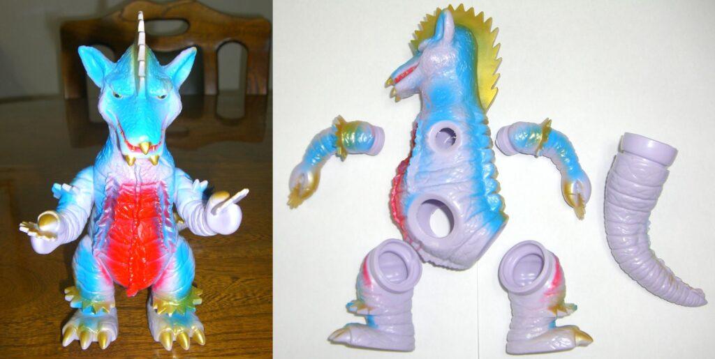 "The project to make a soft vinyl monster dolls walk on batteries: Mutilation monster ""Gronken"""