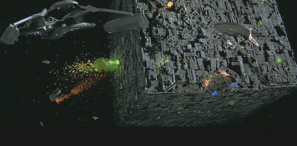"""STAR TREK THE NEXT GENERATION"" Borg Cube"