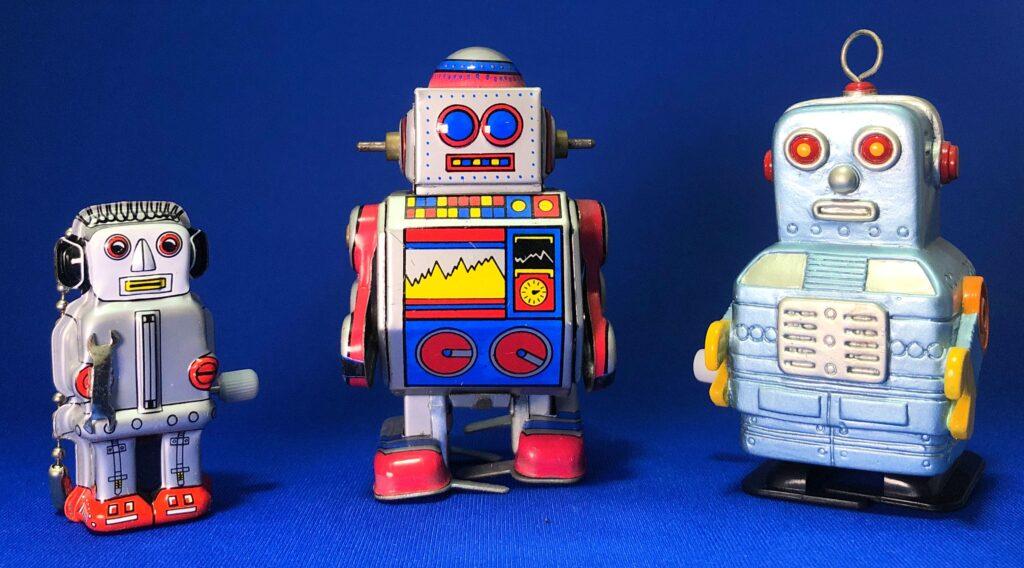 ミニズーマーロボット、ブリキなかよしロボ、SOFT VINYL WALKING ROBOT