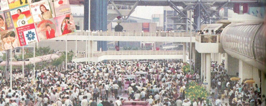大阪万博 開催中の人出