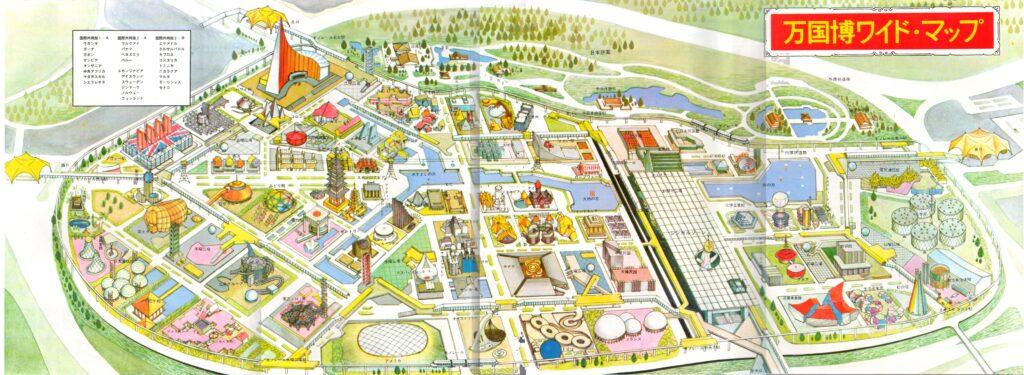 大阪万博 会場の全景